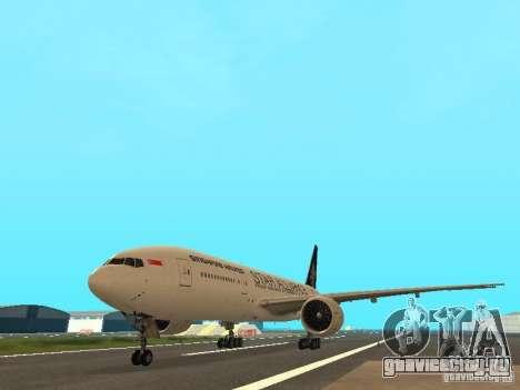 Boeing 777-200 Singapore Airlines для GTA San Andreas