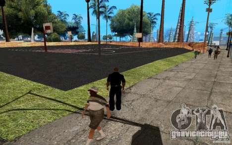 Новая баскетбольная площадка для GTA San Andreas пятый скриншот