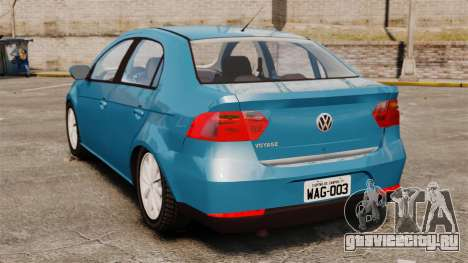 Volkswagen Voyage G6 2013 для GTA 4 вид сзади слева