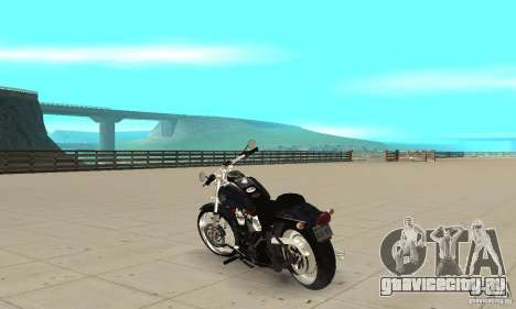 Harley Davidson FXSTBi Night Train для GTA San Andreas вид сзади слева