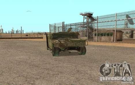 Hummer Spec Ops The Line для GTA San Andreas вид слева