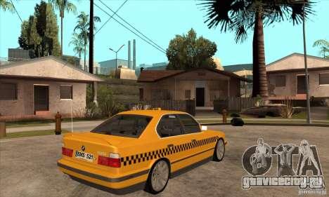 BMW E34 535i Taxi для GTA San Andreas вид справа