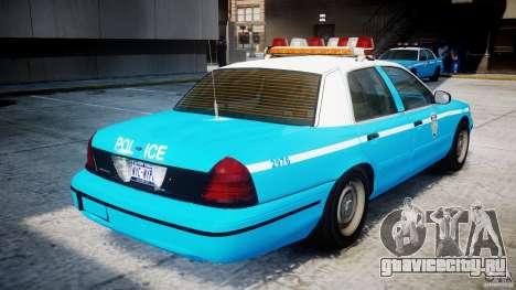 Ford Crown Victoria Classic Blue NYPD Scheme для GTA 4 вид справа