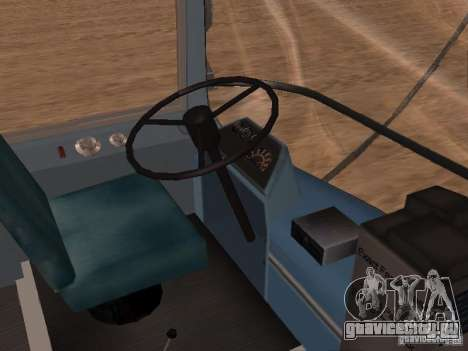 GM TDH-5303 для GTA San Andreas вид изнутри