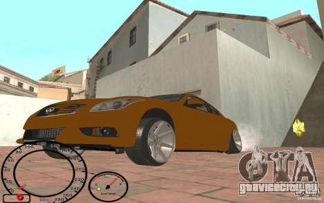 Infiniti G37 Vossen для GTA San Andreas вид слева