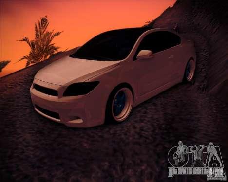Scion tC Blue Meisters для GTA San Andreas вид снизу