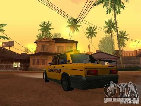 ВАЗ 2106 Такси тюнинг для GTA San Andreas вид слева