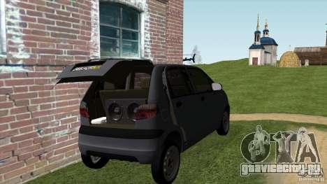 Daewoo Matiz для GTA San Andreas вид сзади слева