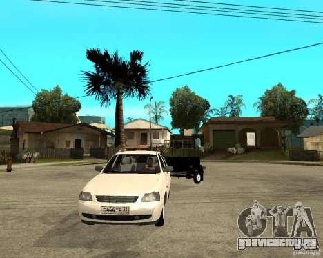 ВАЗ 2170 Приора Light tuning и прицеп для GTA San Andreas вид сзади
