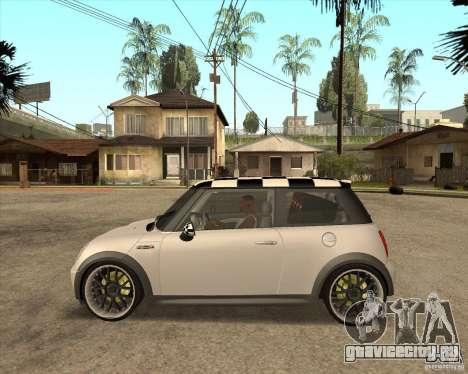 Mini Cooper для GTA San Andreas вид сзади слева