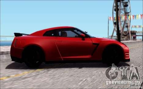 Nissan GTR Egoist 2011 (Версия с грязью) для GTA San Andreas вид сзади