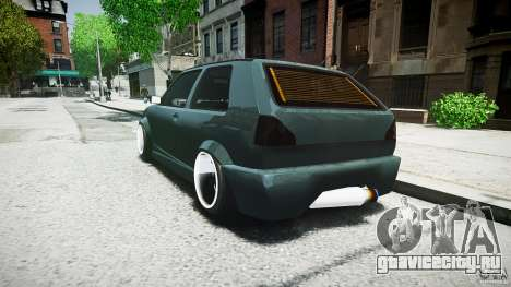 Volkswagen Golf 2 Low is a Life Style для GTA 4 вид сзади