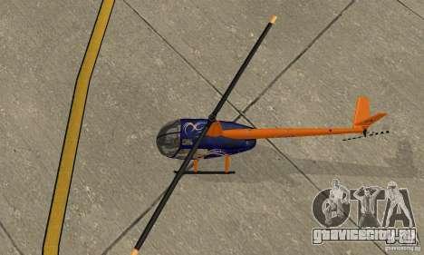 Robinson R44 Raven II NC 1.0 Скин 3 для GTA San Andreas вид сзади