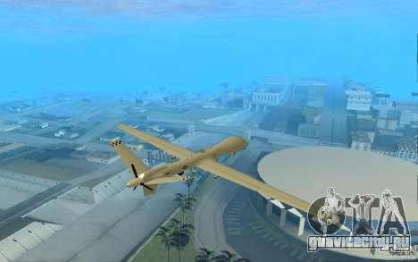 RQ9 Predator для GTA San Andreas вид сзади слева