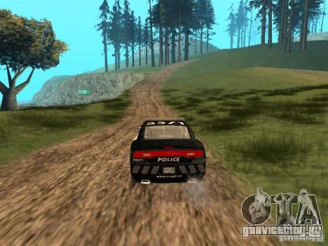 Dodge Charger Canadian Victoria Police 2011 для GTA San Andreas вид изнутри