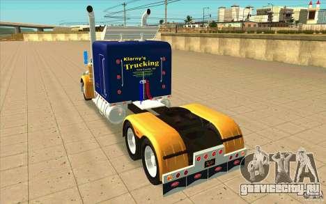 Peterbilt 359 Custom для GTA San Andreas вид сзади слева