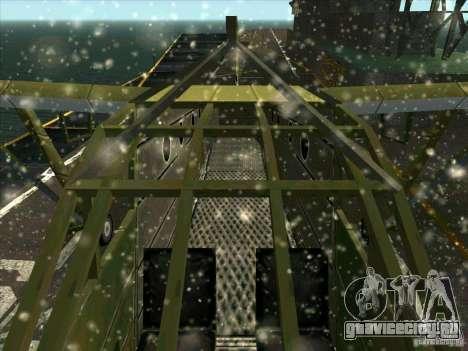 Самолёт из игры В тылу врага 2 для GTA San Andreas вид изнутри