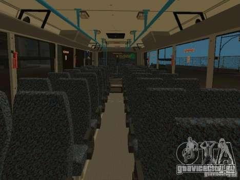 ЛиАЗ-ГолАЗ 5256 2007 для GTA San Andreas вид изнутри