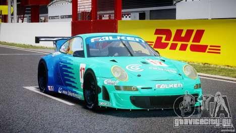 Porsche GT3 RSR 2008 для GTA 4 вид сзади