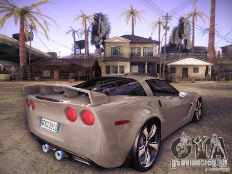 Chevrolet Corvette C6 Z06 Tuning для GTA San Andreas вид справа