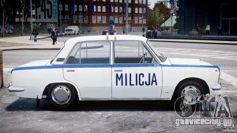 Fiat 125p Polski Milicja для GTA 4 вид изнутри