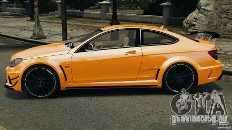Mercedes-Benz C63 AMG 2012 для GTA 4 вид слева