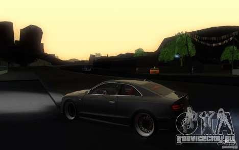 Audi S5 Black Edition для GTA San Andreas вид слева