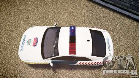 Audi S5 Hungarian Police Car white body для GTA 4 вид справа