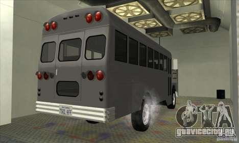 Civil Bus для GTA San Andreas вид сзади слева
