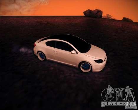 Scion tC Blue Meisters для GTA San Andreas вид сзади
