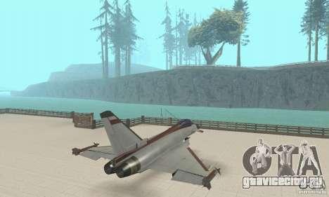 EF-2000 Typhoon V1.3 для GTA San Andreas вид сзади