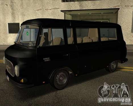1961-1991 Barkas B1000 для GTA San Andreas вид сзади