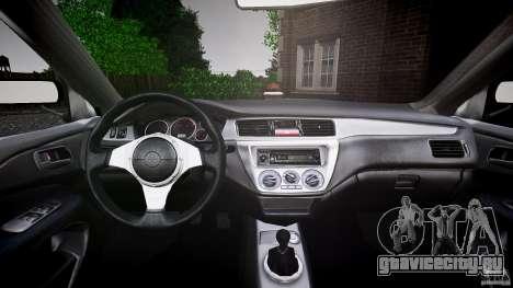 Mitsubishi Lancer Evolution VIII v1.0 для GTA 4 вид снизу