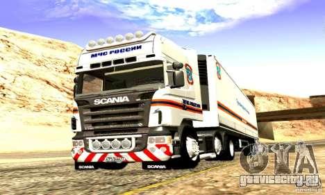 Scania R620 МЧС России для GTA San Andreas вид изнутри