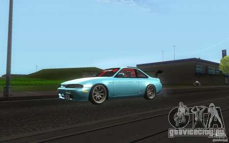 Nissan Silvia S14 Zenkitron для GTA San Andreas вид слева