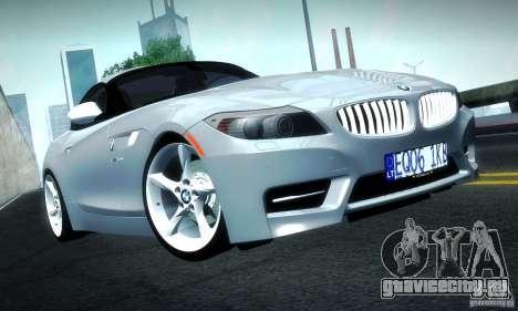 BMW Z4 Stock 2010 для GTA San Andreas вид слева