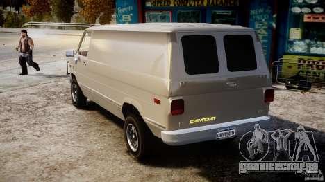 Chevrolet G20 Vans V1.1 для GTA 4 вид сзади слева