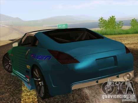 Nissan 350Z Falken Tire для GTA San Andreas вид слева