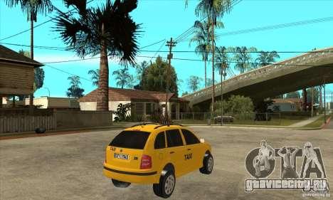 Skoda Fabia Combi Taxi для GTA San Andreas вид справа