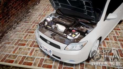 Toyota Scion tC 2.4 Stock для GTA 4 вид изнутри