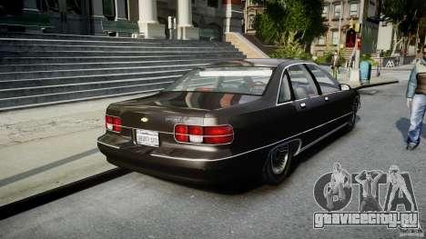 Chevrolet Caprice FBI v.1.0 [ELS] для GTA 4 вид сзади слева