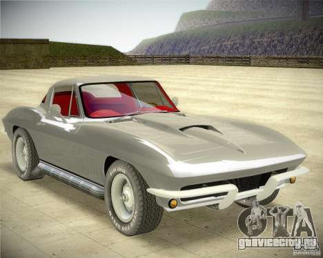 Chevrolet Corvette Stingray для GTA San Andreas вид сзади слева