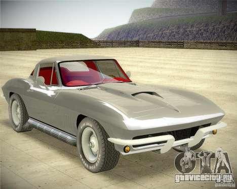Chevrolet Corvette Stingray для GTA San Andreas вид сзади слева