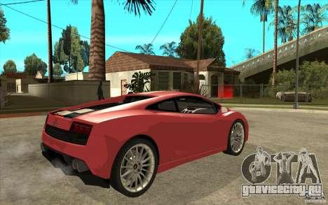 Lamborghini Gallardo LP550 Valentino Balboni для GTA San Andreas вид справа