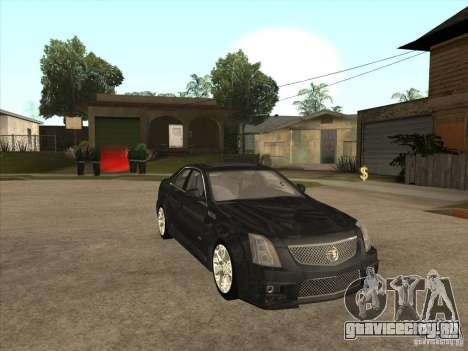 Cadillac CTS-V 2009 для GTA San Andreas вид сзади