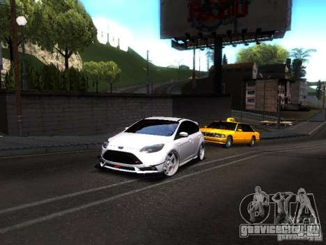 Ford Focus 2012 ST для GTA San Andreas вид сзади слева