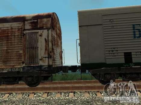 Рефрежираторный вагон Дессау №4 Ржавый для GTA San Andreas вид сзади