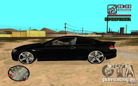 BMW M6 2006 для GTA San Andreas вид сзади слева