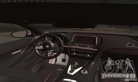 BMW M6 Coupe 2013 для GTA San Andreas вид сзади слева