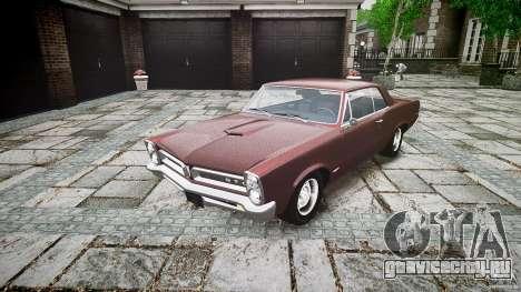 Pontiac GTO 1965 для GTA 4 вид сзади